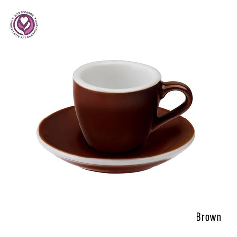Loveramics Egg Espresso Cup & Saucer 80ml -Brown