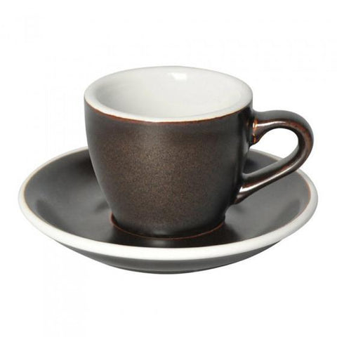 Loveramics Egg Espresso Cup & Saucer 80ml - Gun Powder