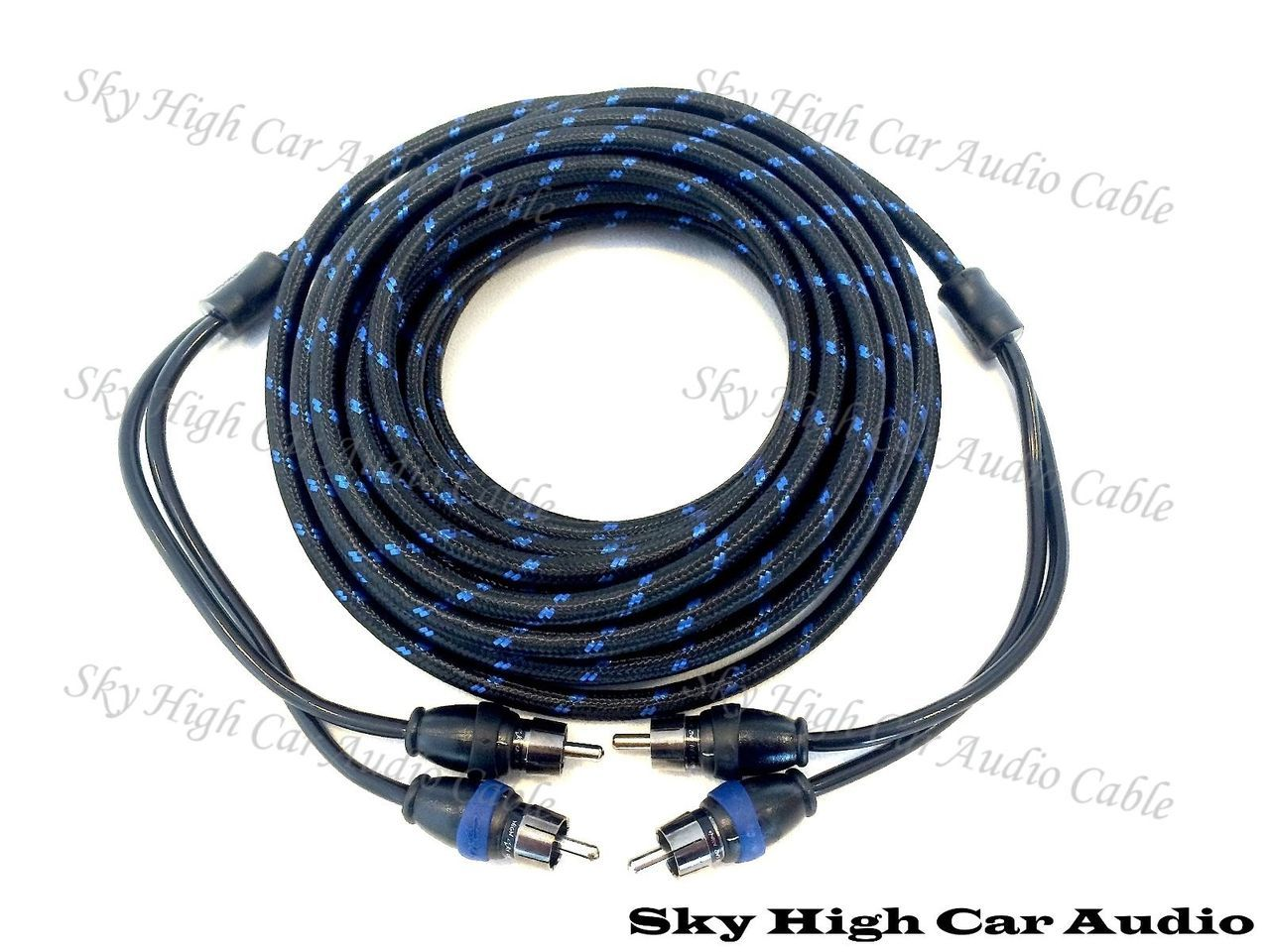 Sky High Car Audio 2 Channel Triple Shielded RCA Cable