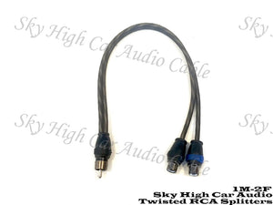 Sky High Car Audio Twisted Y-Splitter