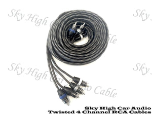 Sky High Car Audio 4 Channel Twisted RCA Cable