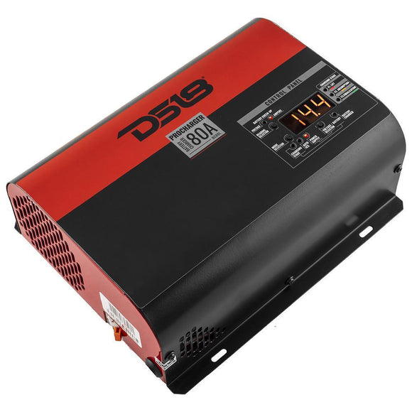 DS18 80 ampere selectable charger and power supply. Good for Lead Acid, AGM, and Lithium batteries Made In Brazil