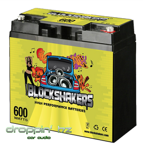 Block Shakers 12V 18AH (600 Watts) High Performance Car Audio Battery