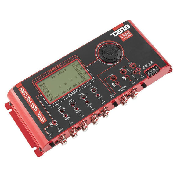 DS18 2-Channel In and 8-Channel Digital Output + 4-Channel Analog Output Digital Sound Processor with LCD screen