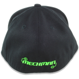 Mechman Embroidered Flexfit 210 Flatbrim Fitted Hat