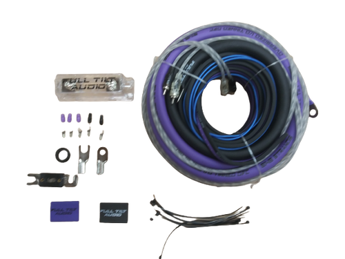 Full Tilt 1/0 Gauge AWG Purple/Black Amplifier/Amp Wire Kit