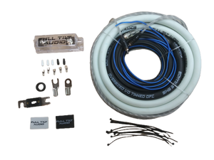 Full Tilt 1/0 Gauge AWG White/Black Amplifier/Amp Wire Kit