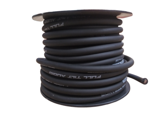 FULL TILT 8 GAUGE BLACK 50' TINNED OFC OXYGEN FREE COPPER POWER/GROUND CABLE/WIRE
