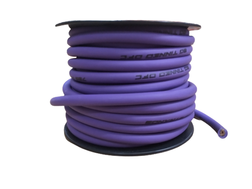 FULL TILT 8 GAUGE PURPLE 50' TINNED OFC OXYGEN FREE COPPER POWER/GROUND CABLE/WIRE