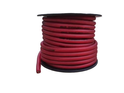 FULL TILT 8 GAUGE RED 50' TINNED OFC OXYGEN FREE COPPER POWER/GROUND CABLE/WIRE