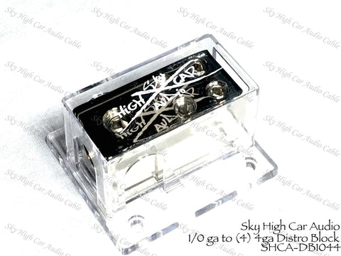 Sky High Car Audio (1) 1/0 to (4) 4GA Distribution Block