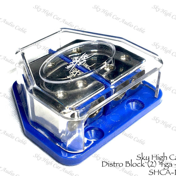 Sky High Car Audio 4GA Power & Ground Split Distribution Block