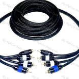 Sky High Car Audio Premium 4 Channel RCA Cable
