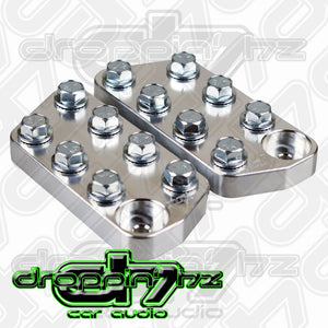 Jims Machineworx Flat 7 LUG Bolt Style Battery Terminal Pair