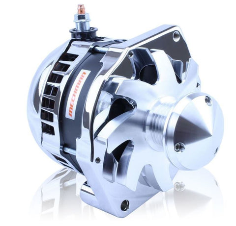 "S Series ""one-wire"" 320 Amp Alternator with 6.15"" Bolt Pattern - POLISHED w/ March Pulley"