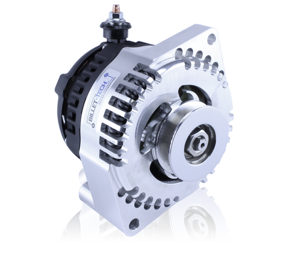 Billet 240 Amp alternator for early Ford - 1 wire - machined finish