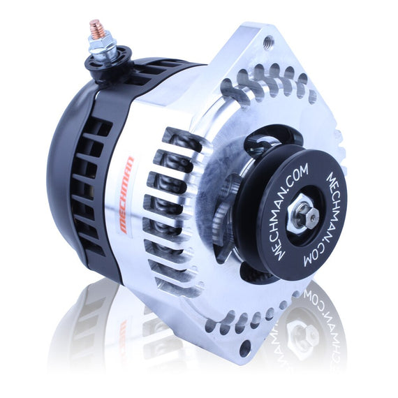 S Series 170 amp Racing alternator for 63-85 GM - 1 wire - BILLET finish