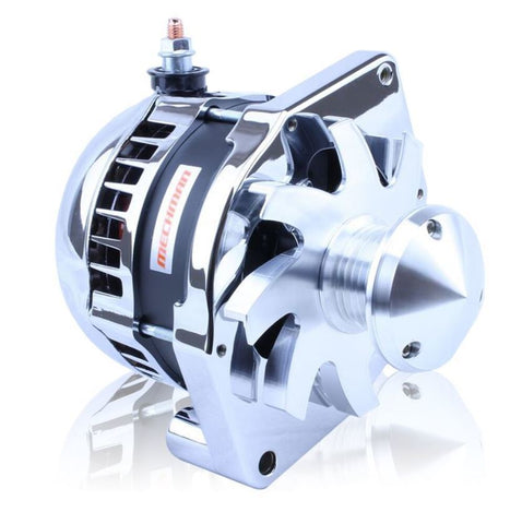 "S Series 6 Phase High Output 170 Amp Alternator with 6.61"" - Self Exciting - Polished w/March 1.75"" Pulley and Fan"