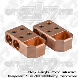 Sky High Car Audio 4 2/0 Copper Battery Terminals