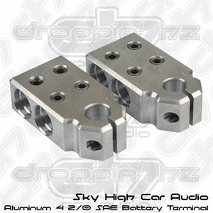 Sky High Car Audio 4 2/0 SAE Aluminum Battery Terminals