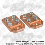 Sky High Car Audio 4 Lug Flat Copper Battery Terminals