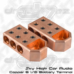 Sky High Car Audio 6 1/0 Copper Battery Terminals