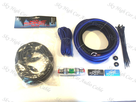 Sky High Car Audio 8ga OFC Amplifier Kit