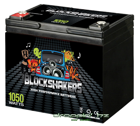 Block Shakers 12V 35AH (1050 Watts) High Performance Car Audio Battery