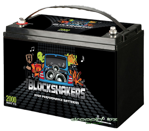 Block Shakers 12V 110AH (2000 Watts) High Performance Car Audio Battery