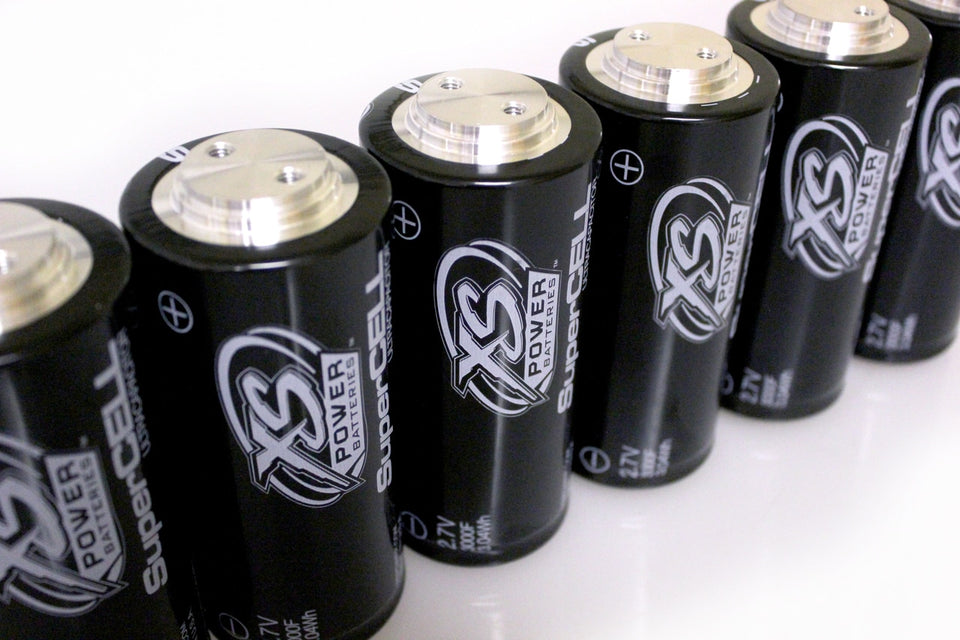 XS Power 2.7V 3000F Super Capacitor Pack of (6) 16.2V MAX