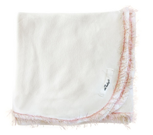 Trimmed Layette Blanket - Blush/Pink Gold