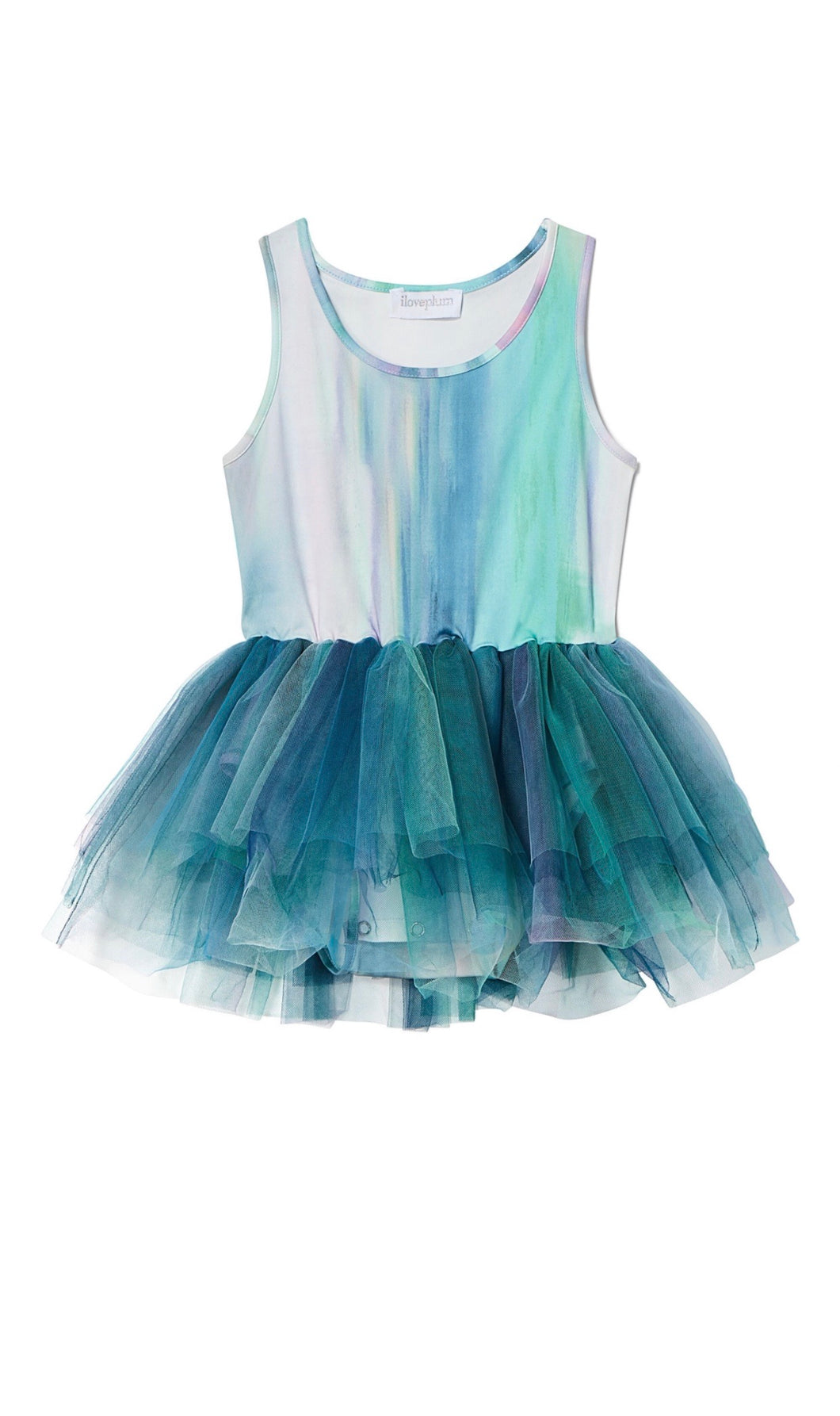 Watercolor Tutu Alba Teal