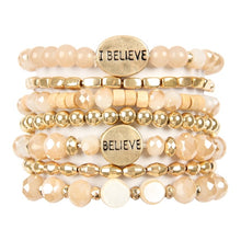 Load image into Gallery viewer, Believe Stacked Bracelet | Neutral