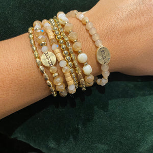 Believe Stacked Bracelet | Neutral