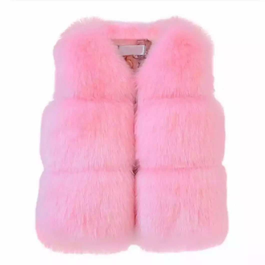 Keep Me Warm Faux Fur Vest | Pink