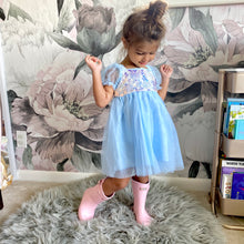 Load image into Gallery viewer, Princess Sequin Dress | Blue