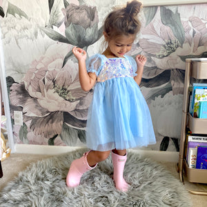Princess Sequin Dress | Blue