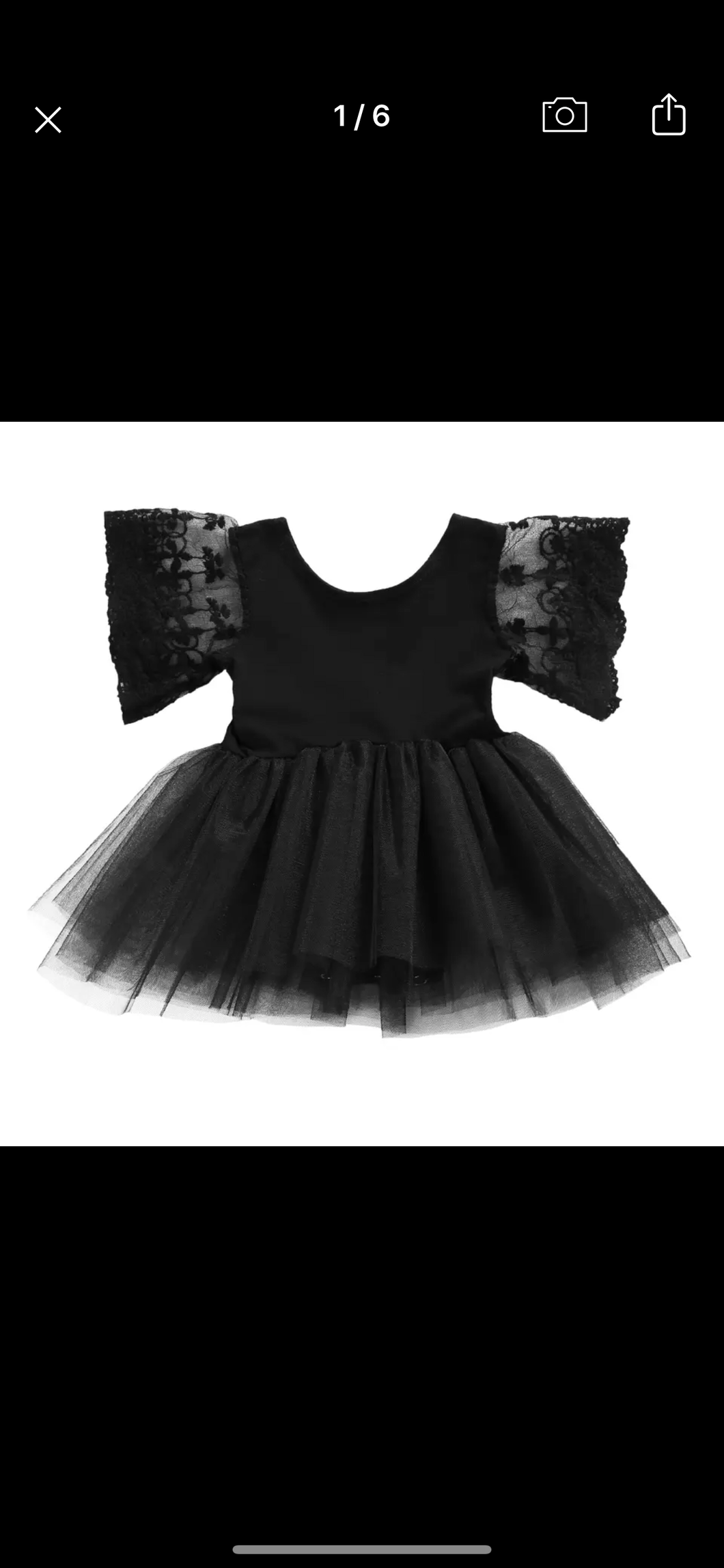 Black Lace Tutu Dress