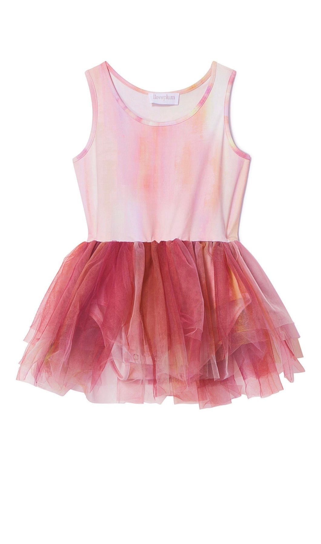 Watercolor Tutu Poppy Orange