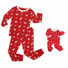 Load image into Gallery viewer, Noelle Pajama Set | Deer & Snowflake