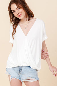 Double Duty Wrap Top | Ivory