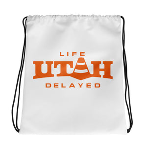 Life Delayed Drawstring bag