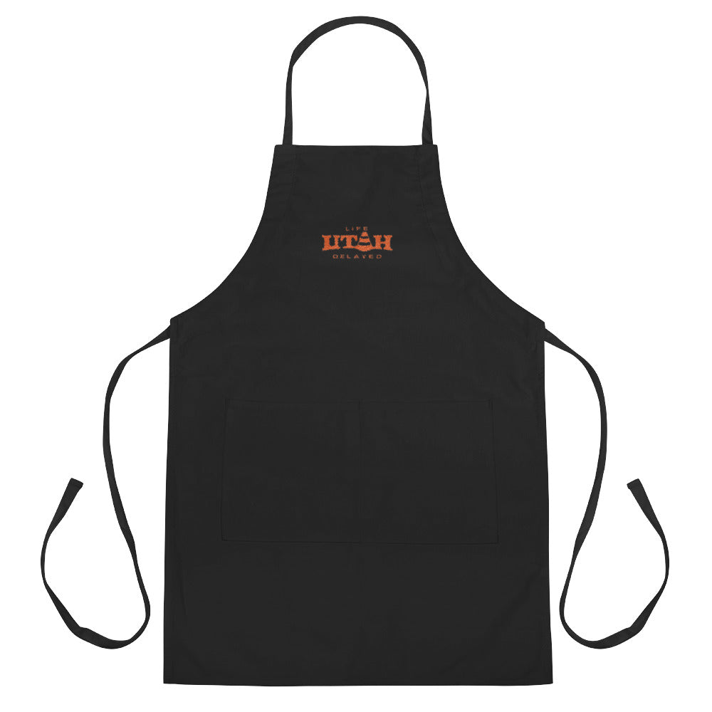 Life Delayed Embroidered Apron