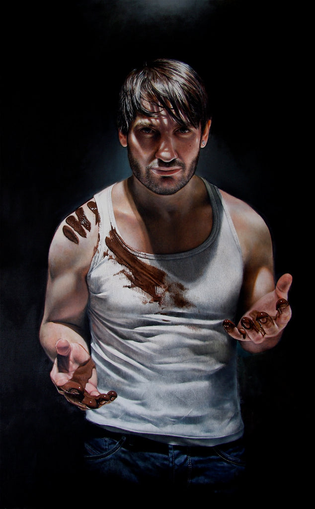 'Eric Lanlard' - Portrait for front cover of latest book 'Chocolat'