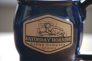 14oz SMCC Earthenware Mug - Blue and Black