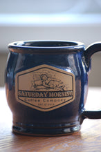 Load image into Gallery viewer, 14oz SMCC Earthenware Mug - Blue and Black