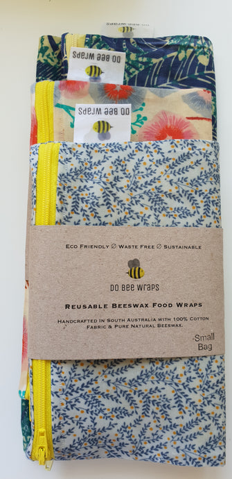 Reusable Beeswax Bags (Starter Pack)