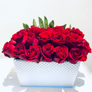 Flower Arrangement Red Roses