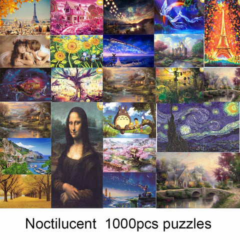 1000 pieces Puzzle Kids Jigsaw Puzzles Noctilucent Educational Toys for Children Adult Fluorescent puzzles - Products To Build a Better Brain