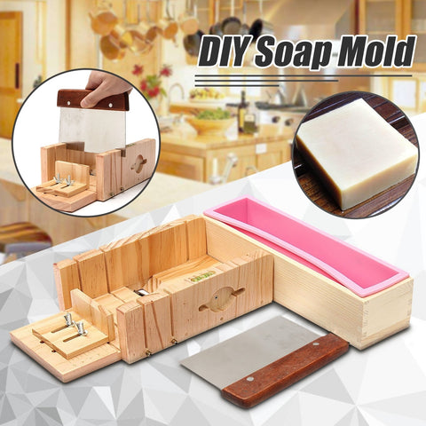 3Pcs/set DIY Loaf Candle Soap Mold Cooking Rectangle Silicone Liner Wooden - Products To Build a Better Brain